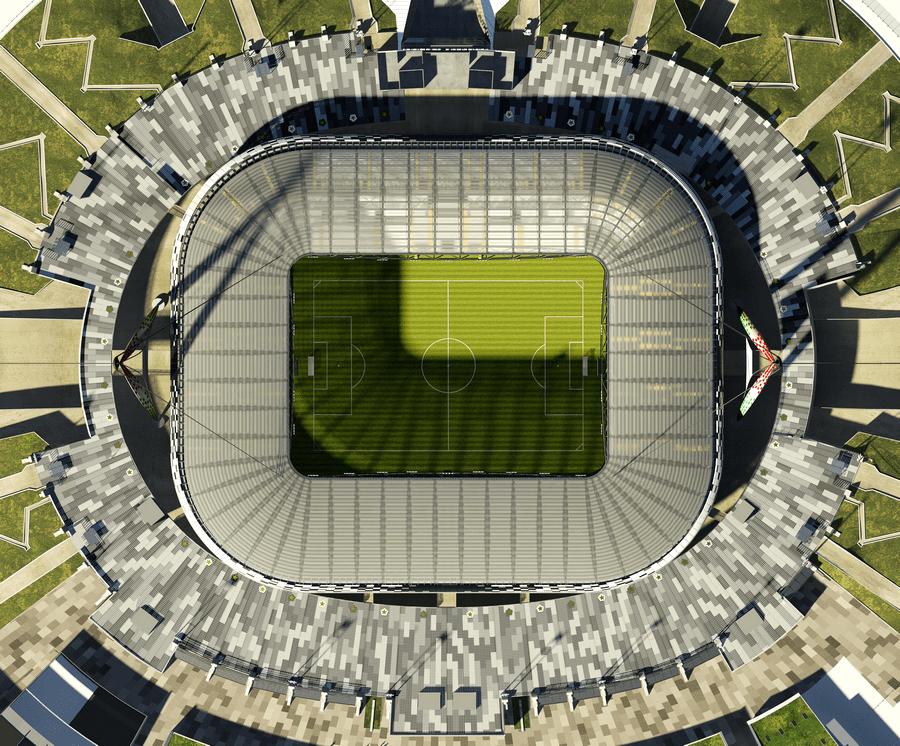 foto dall alto del juventus stadium