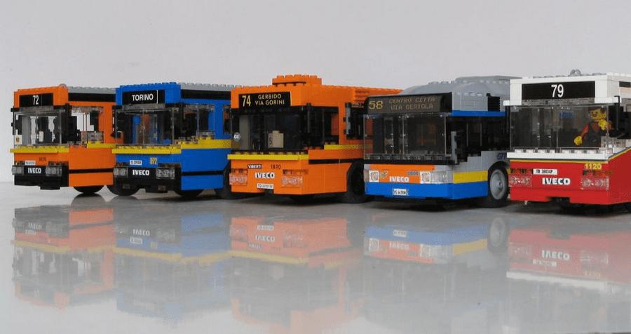 Torino, veicoli GTT riprodotti con i Lego
