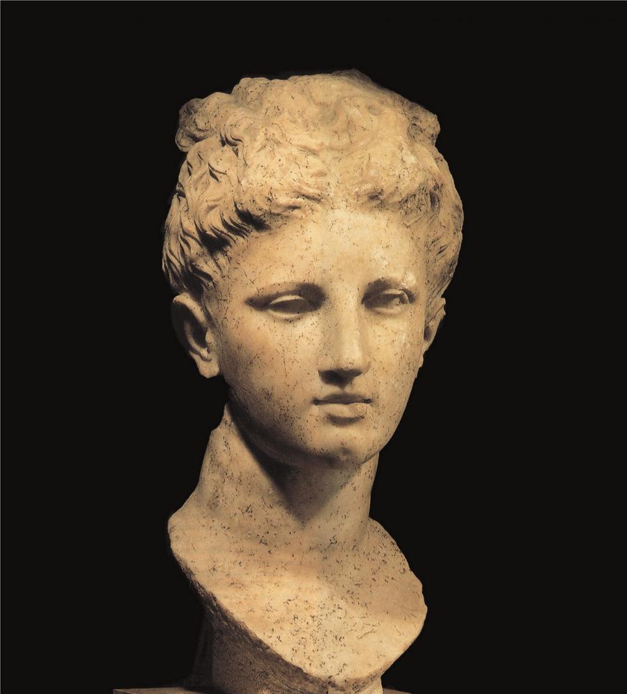 Testa di Apollo, seconda metà IV sec. a.C., Museo Archeologico di Butrinto
