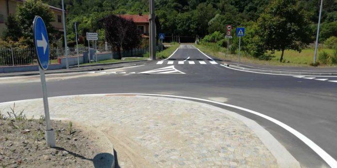 rotatoria di Lauriano al km 26 della SP 590